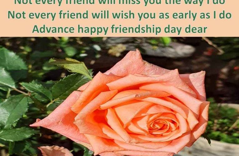 Advance Happy Friendship Day Wishes for Most Special Friends