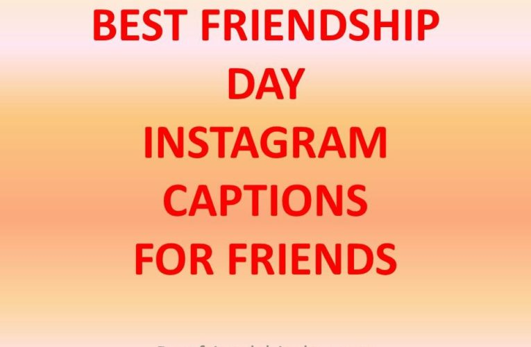 Happy Friendship Day Caption for Instagram Twitter and Facebook